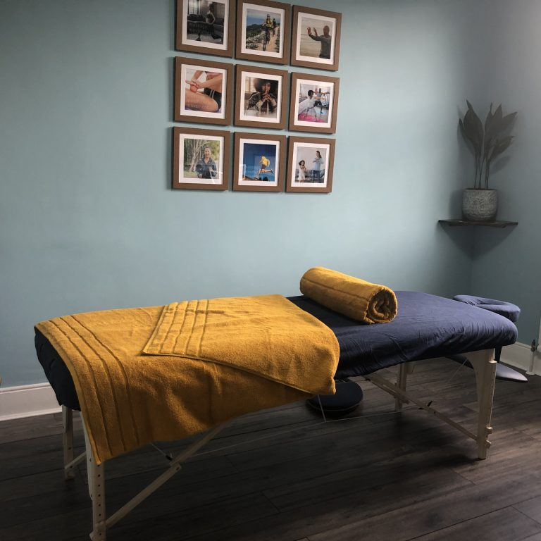 Sports massage therapy room